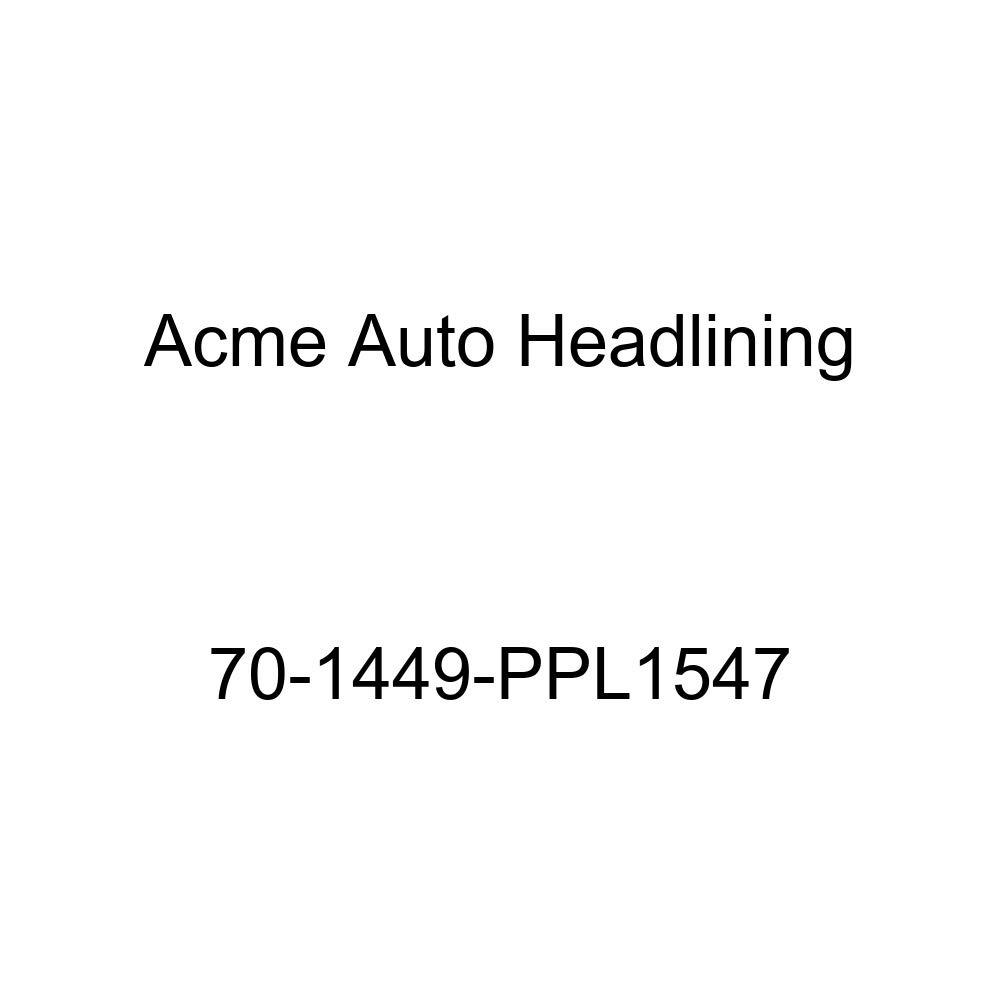 Acme Auto Headlining 70-1449-PPL1547 Medium Blue Replacement Headliner 1970 Chevrolet Chevelle Concours Estate Wagon 8 Bow