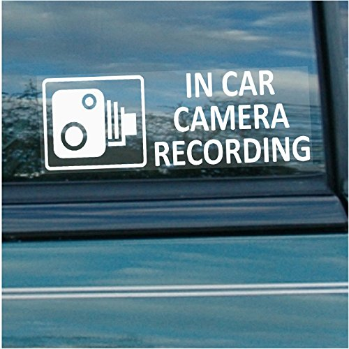 5 x In Car Camera Recording Warning Window Stickers - Camera Warning Sticker
