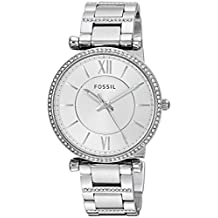 Fossil Women's 'Carlie' Quartz Stainless Steel Casual Watch, Color:Silver-Toned (Model: ES4341)