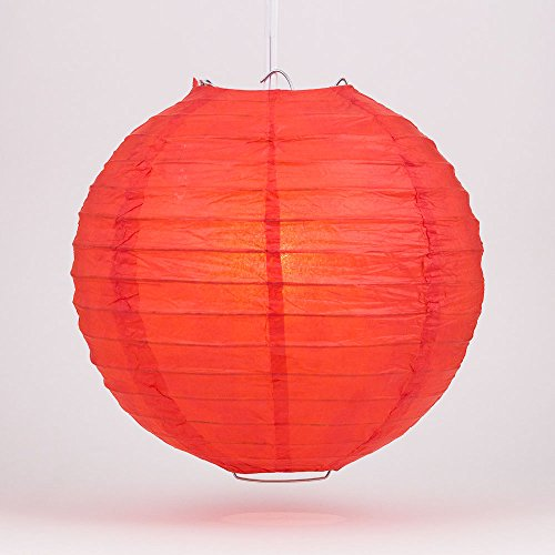 PaperLanternStorecom-4-Red-Round-Paper-Lantern-Even-Ribbing-Hanging-Decoration-10-Pack