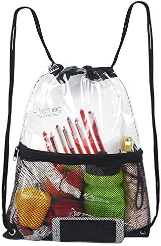 Clear Drawstring Waterproof Stadium Backpack product image