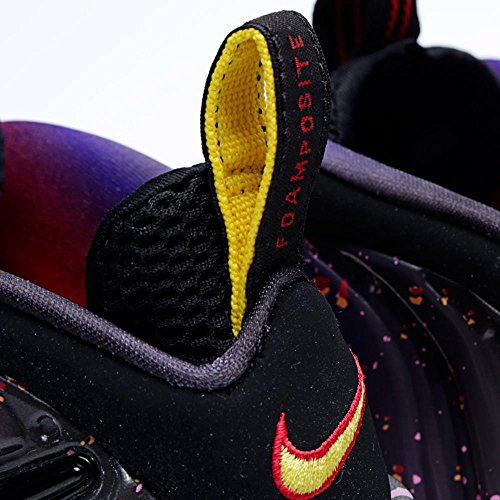 Asteroide Sko Pro Premium Brann Foamposite Nike Air Menns Svart H29IWEDY