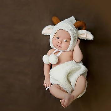 5d07fc2d0275d 干支 着ぐるみ ベビー 赤ちゃん服 寝相アート 写真撮影 十二支 ハロウィン コスチューム (ひつじ)