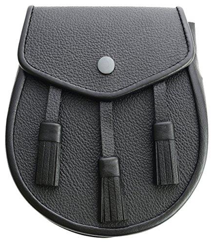 Kilt Sporran /& Chain Leather Strap Belt /& Free Chan belt Leather Sporran