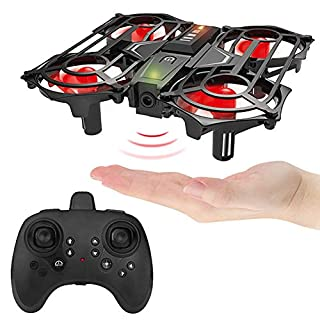 Vrlinking Mini Drone RC Gesture Remote Control 2.4Ghz Quadcopter for Kids and Beginners Helicopter Plane 3D Flip, Headless Mode and Batteries Flying Toys for Boys and Girls