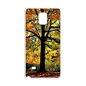 Autumn Trees White Phone Case for Samsung Galaxy Note4 wangjiang maoyi