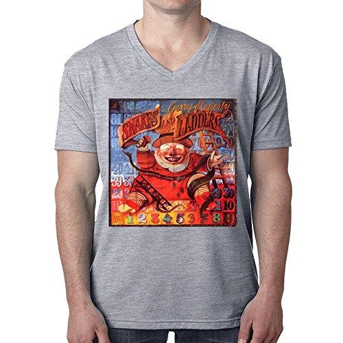 Gerry Rafferty Snakes And Ladders Men T-Shirt V Neck Grey