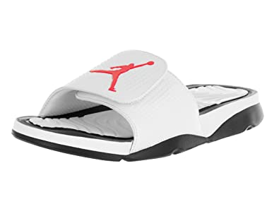 d08b0922389 Nike Jordan Men's Jordan Hydro 5 White/Infrared 23/Black Sandal 9 Men US