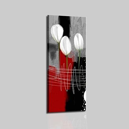 Cuadros Modernos con flores pintados a mano aceite sobre ...