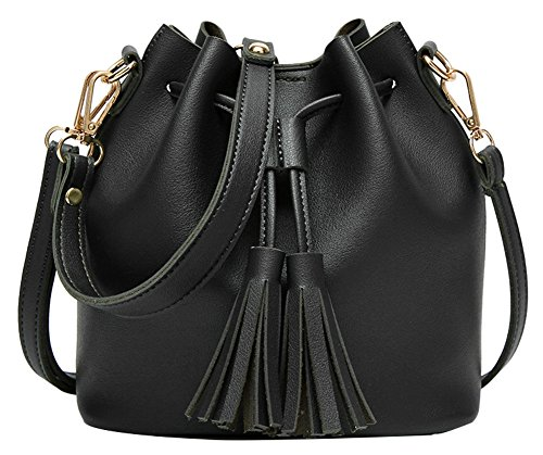 Bag Black ilishop Small Handbags body Ladies Women's Hobo Cross Leather for Purse Shoulder Bag Women Handbags Chic ilishop ATdXqwxX