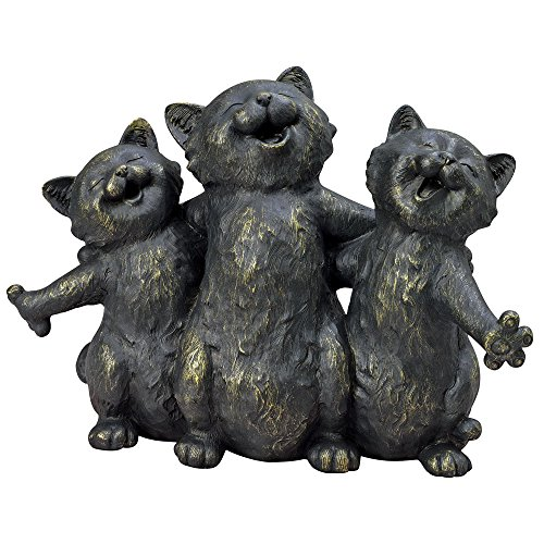 Bits and Pieces-Singing Kittens Statue-Cat Serenade Garden Sculpture - Great Decorative Gift