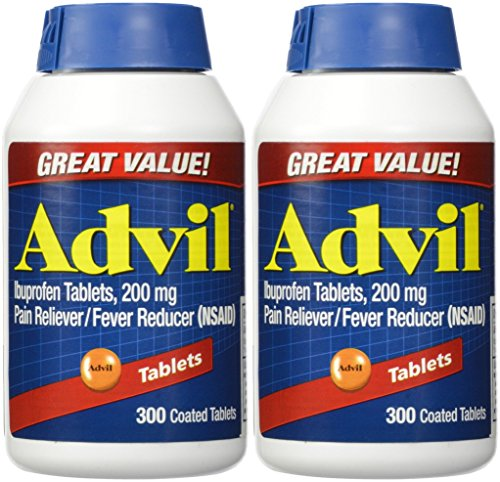 Advil Tablets ( Ibuprofen ), 200 mg, 300 Coated Tablets, Pack of (Advil Coated Tablets)