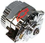 ProForm 141-659 GM Chrome w/ Red Bowtie 80 Amp 1-Wire Alternator