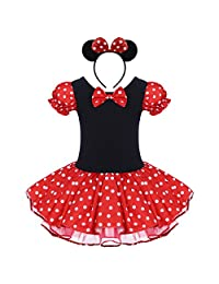 IMEKIS Baby Girl Polka Dots Leotard Dress Up Costume Ballet Dance Cosplay Outfit