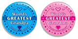 World's Greatest / Best Grandma and Grandpa Pinback Buttons (2.25 inches) - Set