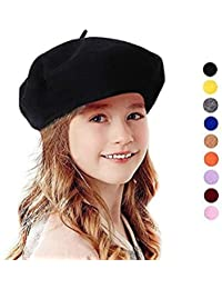 a6ebe293097 French Wool Berets Hat Classic Fashion Warm Beanie Cap for Girls