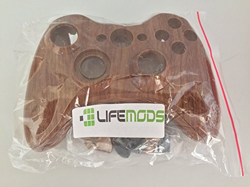 LifeMods Wood Grain Xbox 360 Hydro Dipped Controller Shell