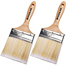 "2 Pack - 4"" Wide HIGHLINE Premium Bristle Paint Brushes"