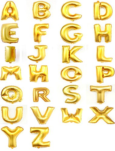 Inch Golden Helium balloons Letters product image