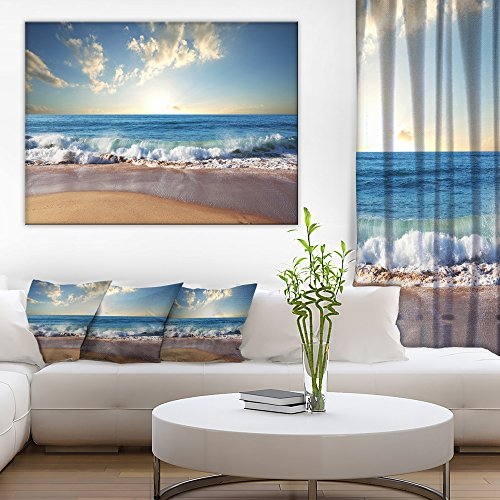 Sea Sunset Seascape Photography Canvas Art Print by Design Art