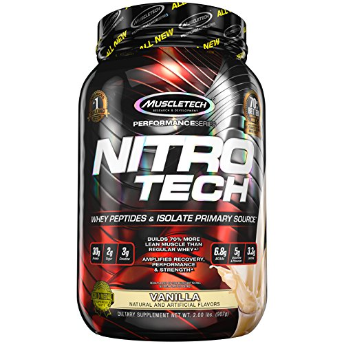 MuscleTech NitroTech Pure Whey Protein, 100% Whey …