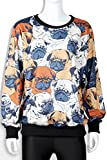 Thenice Women's Sport Pullovers Couples Sweater Sweatshirt Fashion T-shirt (Pug)