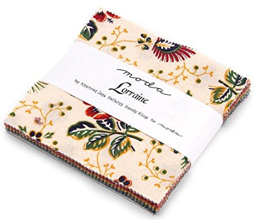 "Lorraine Charm Pack By American Jane; 42 - 5"" Precut Fabric"