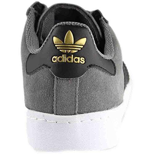Adidas Original Mens Superstar Vulc Adv Skor Grå Fyra / Kärna Svart / Guld Metallic