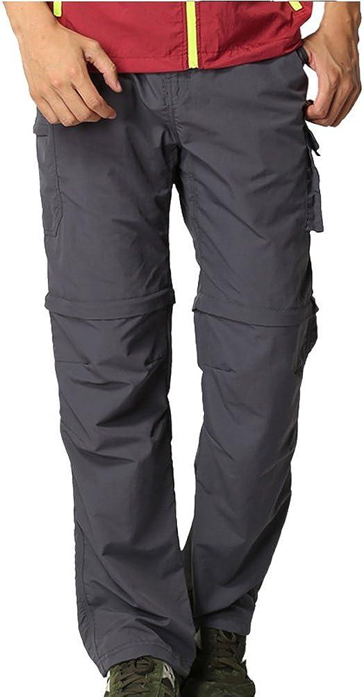 Mens Hiking Pants Convertible Quick Dry Lightweight Zip Off Outdoor Fishing Travel Safari Pants