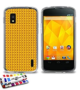 Carcasa Flexible Ultra-Slim GOOGLE NEXUS 4 de exclusivo motivo [Yellow bricks] [Transparente] de MUZZANO  + ESTILETE y PAÑO MUZZANO REGALADOS - La Protección Antigolpes ULTIMA, ELEGANTE Y DURADERA para su GOOGLE NEXUS 4