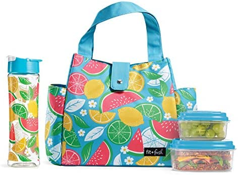 18076182930b Fit & Fresh 989FF622 Westport Insulated Lunch Bag Kit for Women with ...