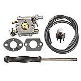 HIPA 309362003 Carburetor + Carb Adjustment Tool for Homelite 309362001 300939006 Chainsaw UT10640 UT10660 UT10680 UT10918 GM10514 GM10516 GM10518