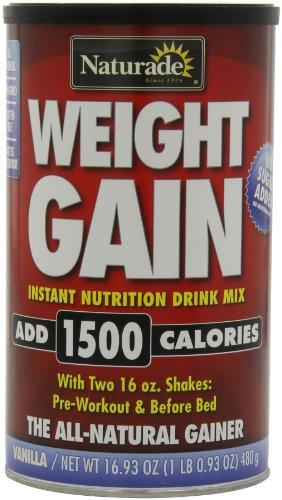 Naturade Gain de poids Nutrition instantanée Drink Mix, Vanille, 16,93 onces (pack de 2)