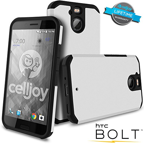 Celljoy Case compatible with HTC Bolt, HTC 10 EVO model [[Will NOT FIT HTC 10]] [Liquid Armor] [Dual Layer] Protective Hybrid [[Shockproof]] - Thin Hard Shell/Soft TPU Skin - Matte (Metallic ()