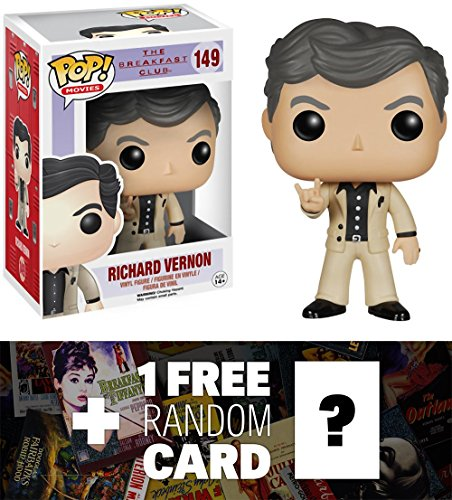 Richard Vernon: Funko POP! x The Breakfast Club Vinyl Figure + 1 FREE Classic Movie Trading Card Bundle [47467]