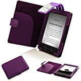 Forefront Cases - Funda con luz LED para Kindle 4 (piel sintética), color azul morado morado Kindle 4