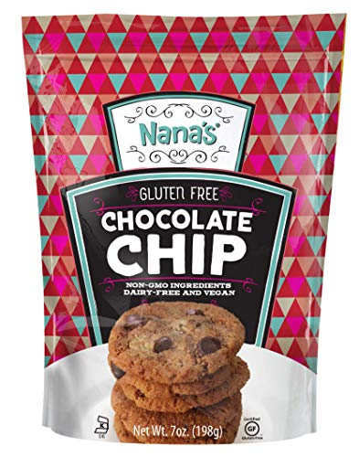 Nana's Gluten Free Chocolate Chip Cookies | Vegan, Dairy Free, Nut Free, Non GMO, Preservative Free, 7 oz (Gluten Free Cookies)
