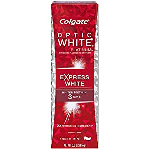 Colgate Optic White Platinum Toothpaste, Express White, 3 Ounce (Pack of 6)