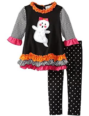 Bonnie Jean Little Girls Trick Or Treat Pumpkin Legging Set