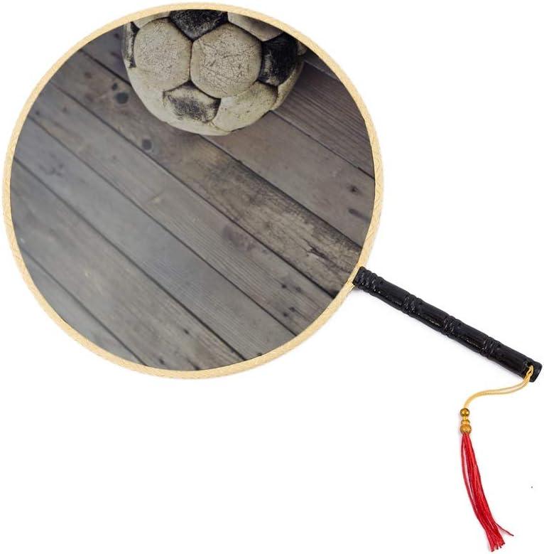WYYWCY Balón de fútbol sobre Suelo de Madera Abanico Antiguo Chino ...