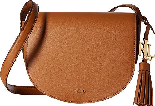 LAUREN Ralph Lauren Women's Dryden Caley Mini Saddle Field Brown/Monarch Orange One - Lauren Brown Ralph Bag