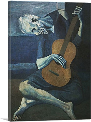 ARTCANVAS The Old Guitarist 1903 Canvas Art Print by Pablo Picasso- 26