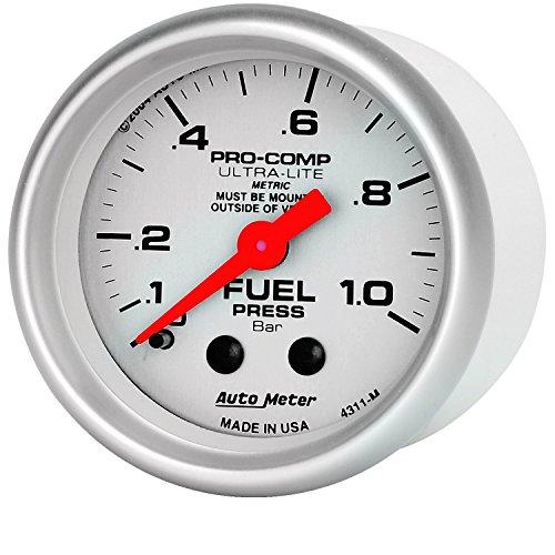 Auto Meter 4311-M Ultra-Lite Mechanical Fuel Pressure Gauge (Pressure Fuel Autometer)