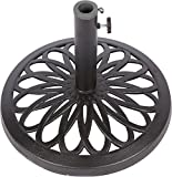 Trademark Innovations 17.5'' Cast Iron Patio Umbrella Base by (Black)