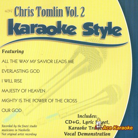 Karaoke: Chris Tomlin Vol 2 as performed by Chris Tomlin Accompaniment Track by Daywind Karaoke
