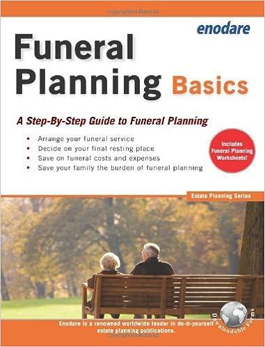 funeral planning basics estate planning enodare 9781906144333