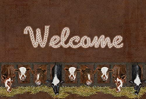Large Carolines Treasures SB3058PLMT Welcome Mat with Cows Fabric Placemat Multicolor