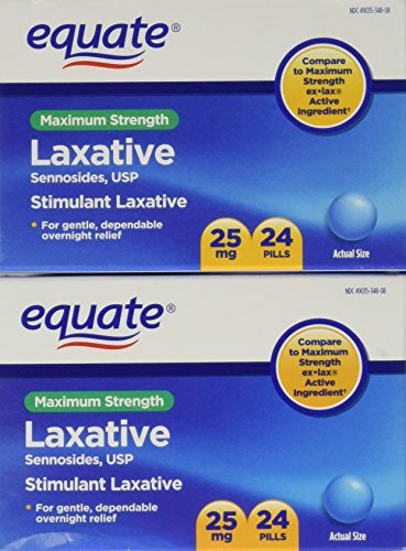 Equate Maximum Strength Laxative Pills, Sennosides 25 mg, 48