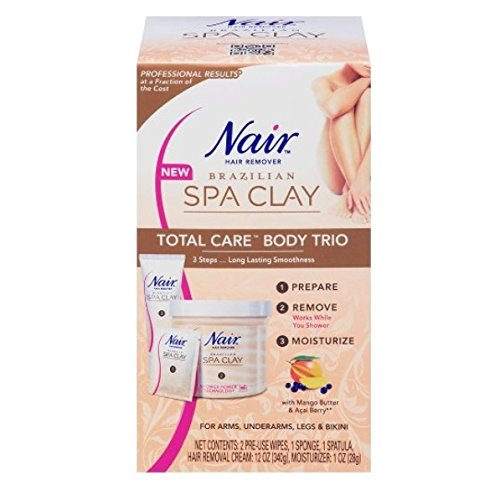 Nair Brazilian Spa Clay Total Care Body Trio, 12 Ounce