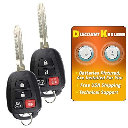Chip Key For 07-10 Toyota Highlander 08-10 Sequoia 04-10 Sienna Keyless Entry Remote Key Fob GQ43VT20T